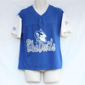 Duke University Blue Devils Vtg Henley Tee Medium